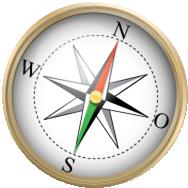 Kompas freigestellt